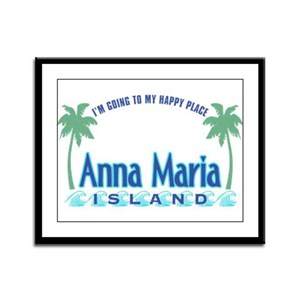 Anna Maria Island-Happy Place Framed Panel Print