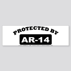 property of protected by ar14 b Bumper Sticker
