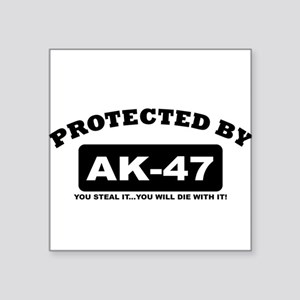 property of protected by ak47 b Sticker