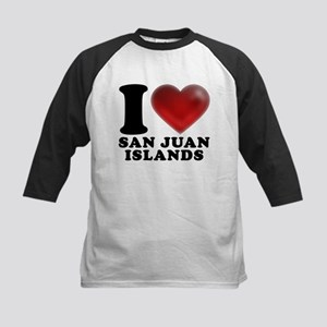 I Heart San Juan Islands Baseball Jersey