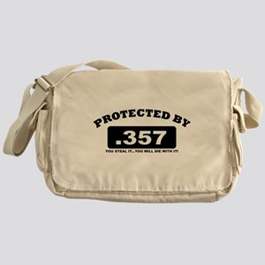property of protected by 357 b Messenger Bag