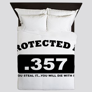 property of protected by 357 b Queen Duvet