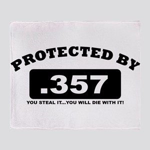 property of protected by 357 b Throw Blanket