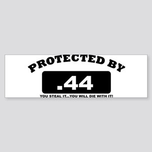 property of protected by 44 b Bumper Sticker