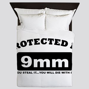 property of protected by 9mm b Queen Duvet