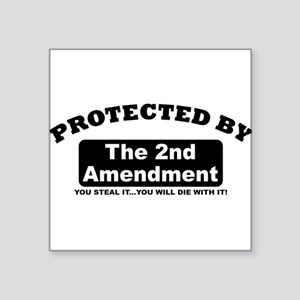 property of protected by 2nd amendment b Sticker