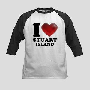 I Heart Stuart Island Baseball Jersey