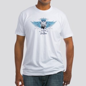 Blue Pit Bull Wing Crest Fitted T-Shirt