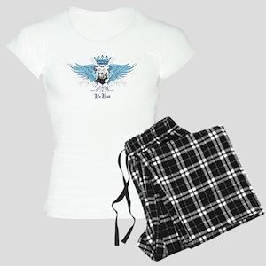 Blue Pit Bull Wing Crest Women's Light Pajamas