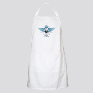 Blue Pit Bull Wing Crest Apron