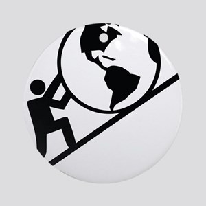 Holding up the World Ornament (Round)