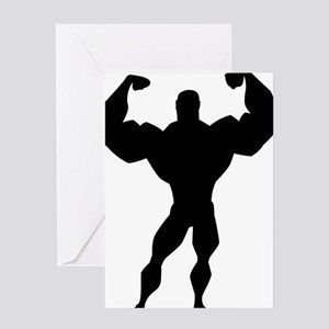 Strong Guy Greeting Card
