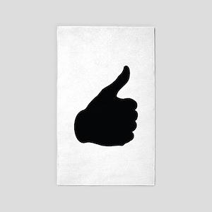 Thumbs Up 3'x5' Area Rug