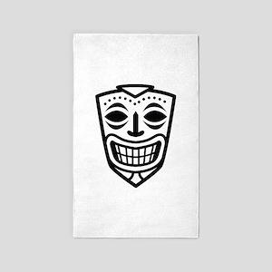 Tiki Mask 3'x5' Area Rug