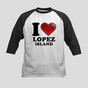 I Heart Lopez Island Baseball Jersey