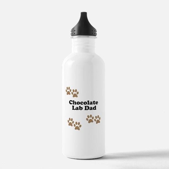 Chocolate Lab Dad Water Bottle