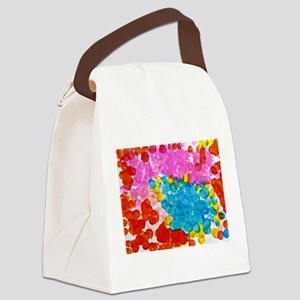 A Spectrum of Colored Dots Canvas Lunch Bag