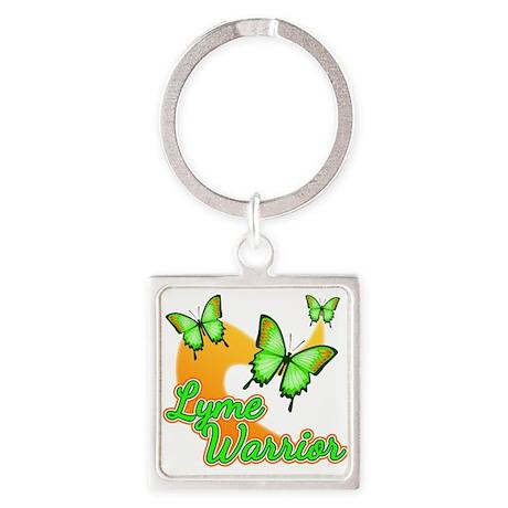 Lyme Warrior Butterflies Square Keychain