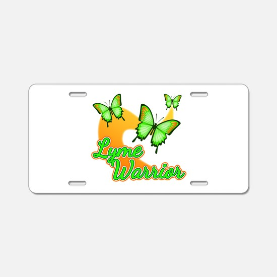 Lyme Warrior Butterflies Aluminum License Plate