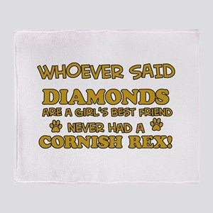Cornish Rex cat mommy designs Throw Blanket