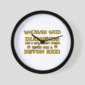 Devon Rex cat mommy designs Wall Clock