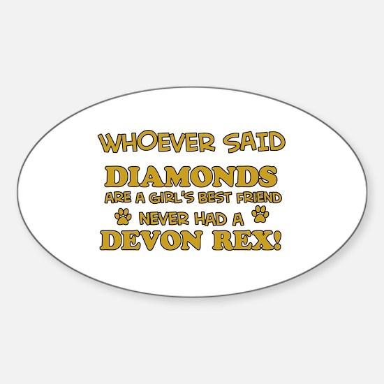 Devon Rex cat mommy designs Sticker (Oval)