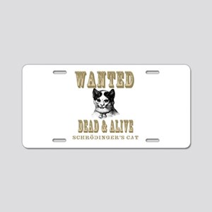 Schrodingers Cat Aluminum License Plate