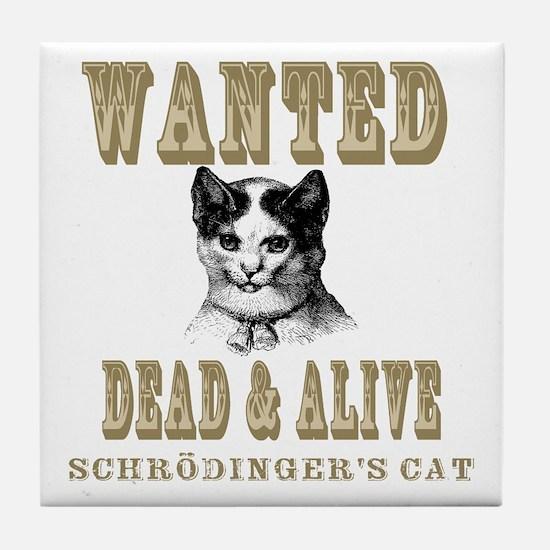 Schrodingers Cat Tile Coaster