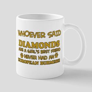 European Burmese cat mommy designs Mug