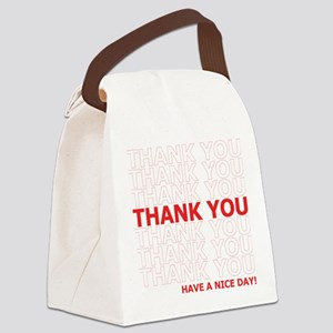 Thank You Have a Nice Day Plastic Bag Text Canvas