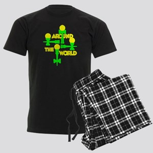 Around the World Men's Dark Pajamas
