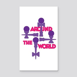 Around the World Rectangle Car Magnet