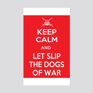 Keep Calm and Let Slip Dogs Sticker