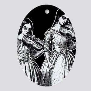 Surly Violin Girls Ornament (Oval)