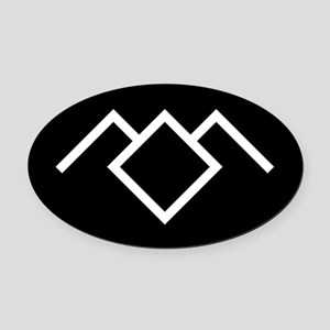 Twin Peaks Owl Cave Symbol Oval Car Magnet