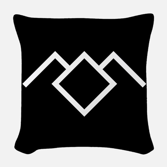 Twin Peaks Owl Cave Symbol Woven Throw Pillow