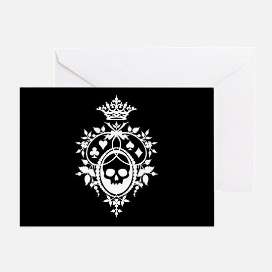 Gothic Skull Crest Greeting Card