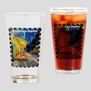 Retired art teacher VG Drinking Glass