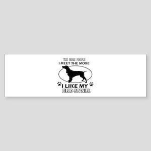 Field Spaniel doggy designs Sticker (Bumper)