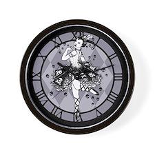 Gothic Ballerina Wall Clock