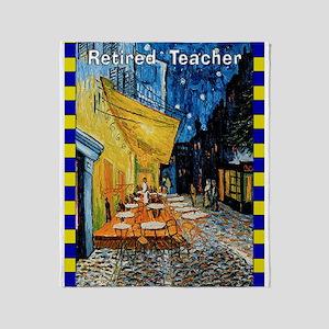 Retired Teacher VG Throw Blanket