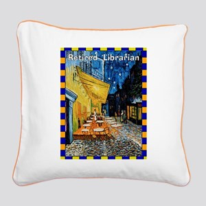 retired librarian VG Square Canvas Pillow