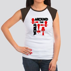 Around the World Women's Cap Sleeve T-Shirt