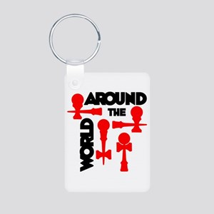 Around the World Aluminum Photo Keychain