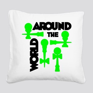Around the World Square Canvas Pillow