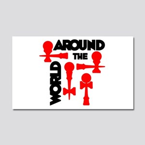 Around the World Car Magnet 20 x 12