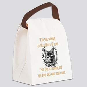 Affairs of Cats Canvas Lunch Bag