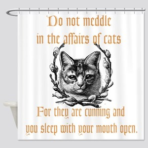 Affairs of Cats Shower Curtain