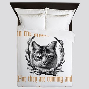 Affairs of Cats Queen Duvet