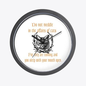 Affairs of Cats Wall Clock